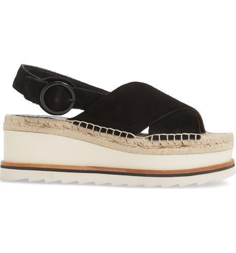 82b335b8263f Marc Fisher Women s Glenna Platform Slingback Sandals - Black - Size ...