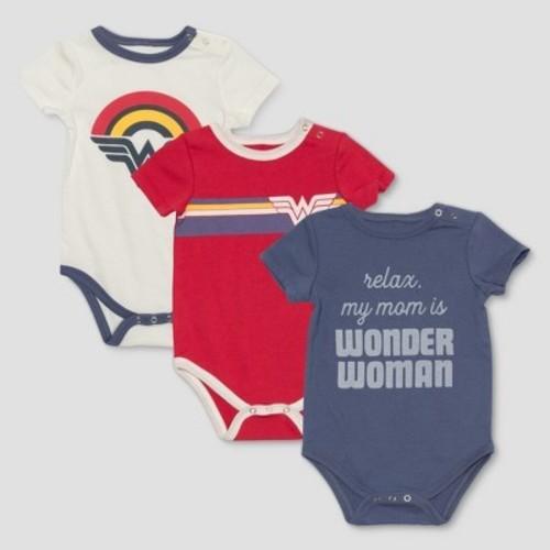 fe7fe858 Junk Food Baby Infant Wonder Woman Bodysuit - 3pk - Multi - Size:9M - Check  Back Soon - BLINQ