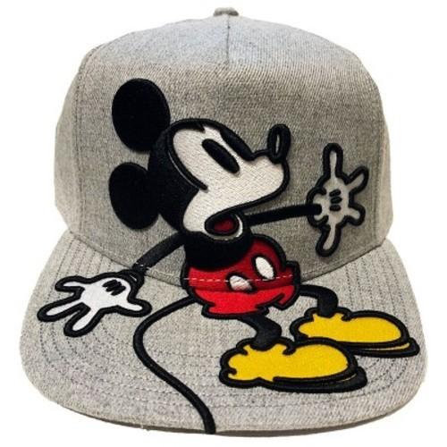 b7fe877e95c3a Disney Mickey Mouse   Friends Mickey Mouse Panic Men s Oversized Baseball  Hats - Gray ...