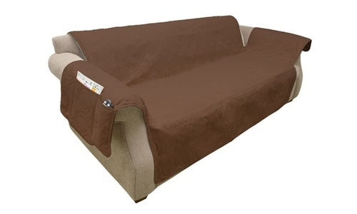 Petmaker Waterproof Stain Resistant Sofa Cover Brown