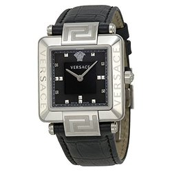 Versace Reve Carre Ladies Watch - Black Dial/Leather (88Q99SD008-S009)