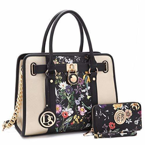Women Designer Handbags and Purses Two Tone Fashion Satchel Bags Top Handle Shoulder Bags Tote Bags with Matching Wallet Amphora photo