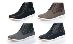 Akademiks Mens Mid-Top Chukka Boat Shoes -