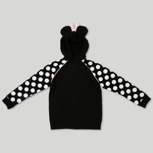Disney Girls Minnie Mouse Costume Hooded Sweatshirt Black Size