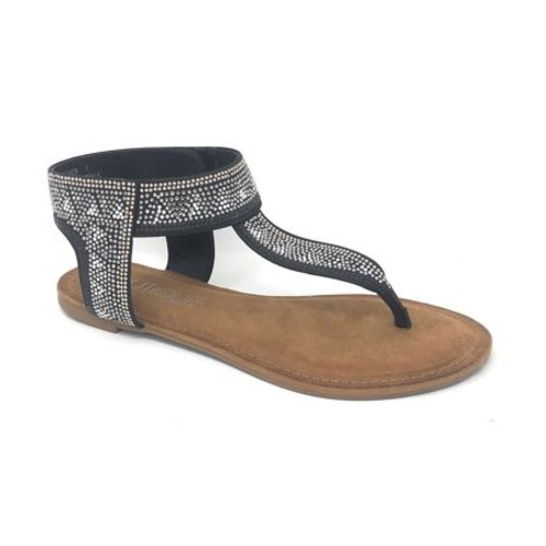 9cfd99db2 ... 11 Corkys Footwear Women s Nora Jeweled Sandals - Black - Size  ...