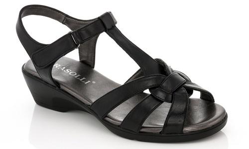 4e8e41a06f8 Rasolli Womens Glory Low Wedge Sandals - Black - Size  8 - Check ...