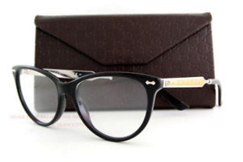 11f4a4cb6e Gucci Women s Cateye Eyeglasses - Black Gold Silver - 53mm ...