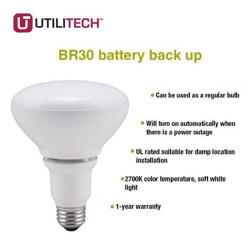 Utilitech 65W BR30 LED Flood Light Bulb YGA08A67 827