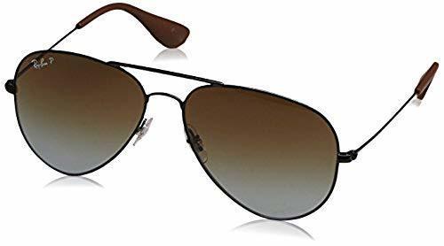 8080436345 Ray-Ban Unisex Polarized Sunglasses - Black Brown - BLINQ