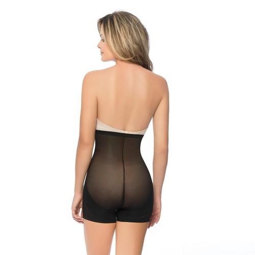7fc51f76727 Annette Women s Faja Extra Firm Control High Waist Boy Short With Front  Zipper - Black - Size L