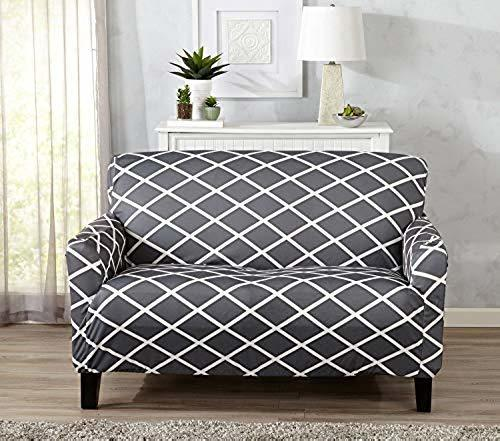 Pleasing Great Bay Form Fitting Diamond Patterned Printed Loveseat Slipcover Gray Check Back Soon Ibusinesslaw Wood Chair Design Ideas Ibusinesslaworg