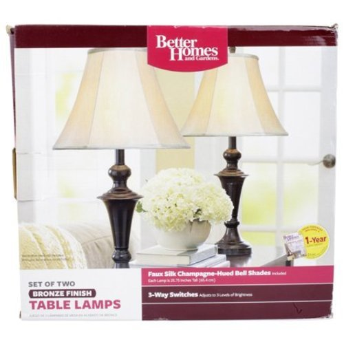 Better Homes U0026 Gardens Table Lamp 2 Set   Bronze