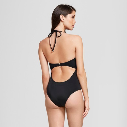 68a6009a6c0 Women's Shore Light Lift Halter One Piece Swimsuit - Black - Size ...