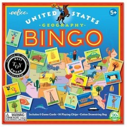 EeBoo Kids' U.S.A. Bingo Board Game Toy Deals