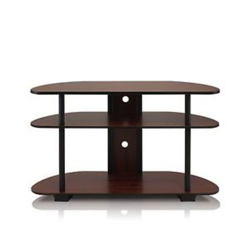 Furinno Turn N Tube 3 Tier Tv Stand Dark Cherry Black Blinq