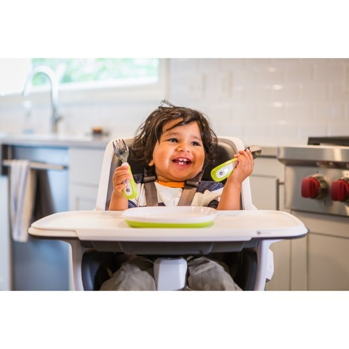 4moms High Chair White Green: 4moms Baby High Chair