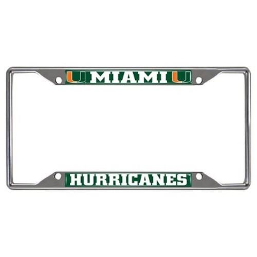 Ncaa License Plate Frames Miami Hurricanes - BLINQ