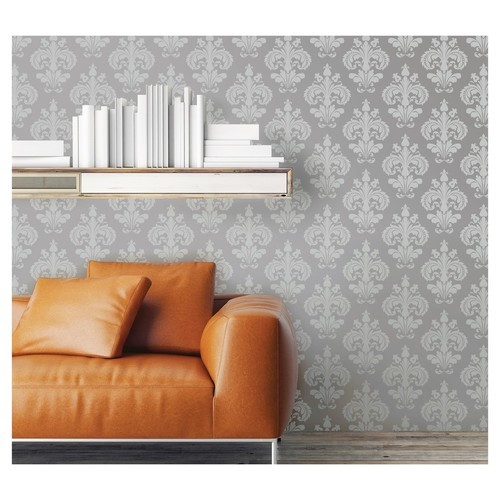 Devine Color Chantilly Peel Stick Wallpaper Beluga And