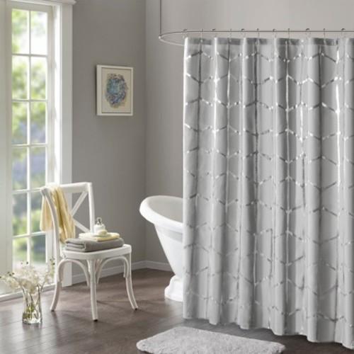 JLA Home Geometric Shower Curtain