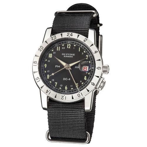 61e12aa94 Glycine Men's Airman 1953 Vintage GMT Automatic Watch - Black - Check Back  Soon - BLINQ