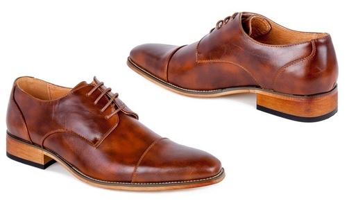 Signature Men s Cap Toe Derby Oxford Dress Shoes - Brown - Size  11 ... 90875a4a2b6