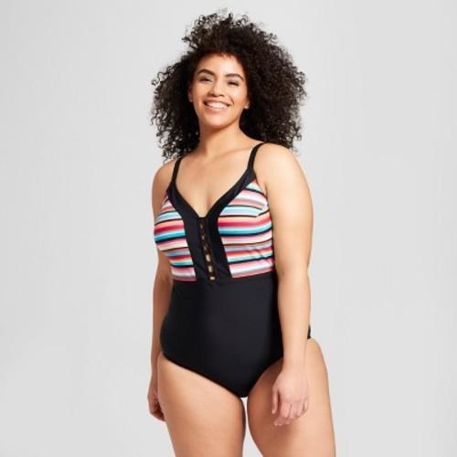 b60d5ae7f7 Costa Del Sol Women s Plus Size Strappy One Piece Swimsuit - Multi- Size X  - BLINQ