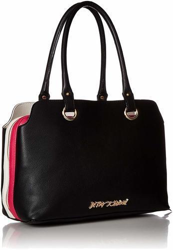 2a78cce91003 Betsey Johnson Women s Pop Collar Satchel Bag - Black - BLINQ
