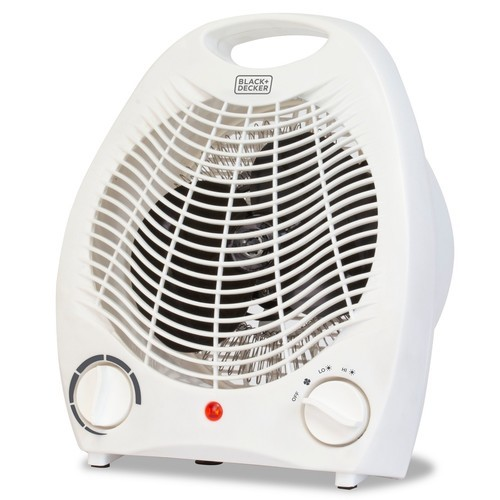 Black Amp Decker Manual Heater Fan White Blinq