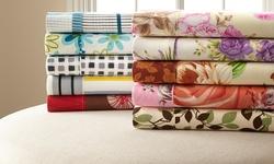 6-Piece 400TC Sheet Set w/ Pillow Cases: King - Brown/Orange