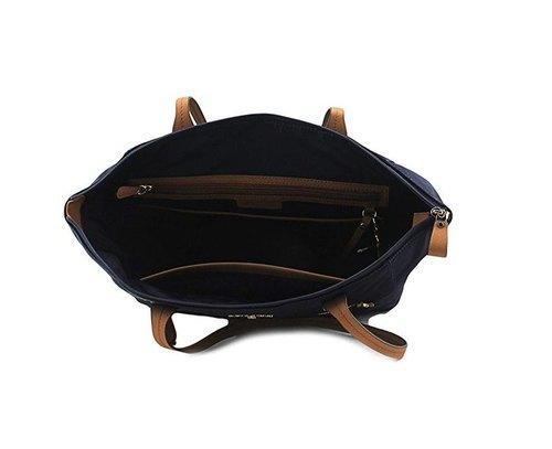 eb66cf86fd96 ... Michael Kors Women's Kelsey Nylon Tote Bag - Admiral - Size: Large ...