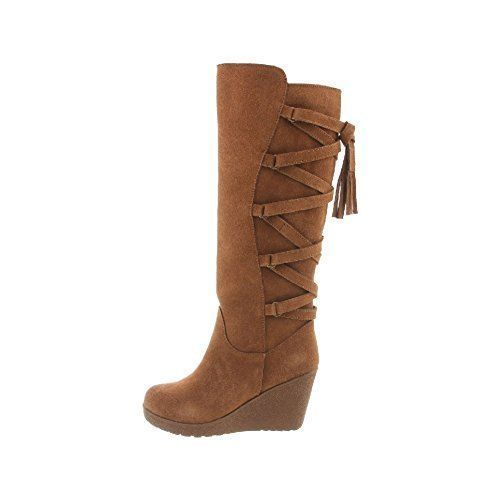 5c515d17dd3 Bearpaw Women s Britney Wedge Boots - Hickory - Size 7 - Check Back ...