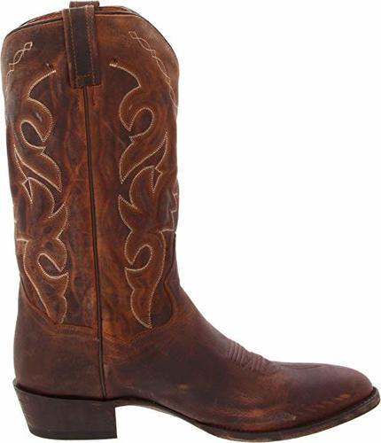 c5a62dd3b9d Dan Post Men's Leather Renegade Western Boots - Brown - Size:13 ...