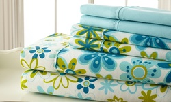 6-Piece 400TC Sheet Set w/ Pillow Cases - Queen - Blue/Green