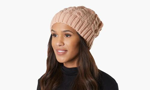 739397c6020 Women S Cold Weather Cable Knit Soft Slouchy Beanie Hat - Autumn ...