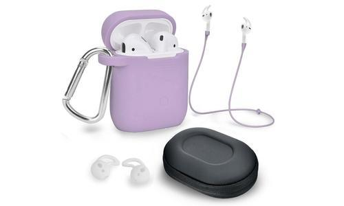 AirPod Case Cover and Accessory Pack 5 Piece - Purple