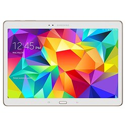 "Samsung Galaxy Tab S 10.5"" Tablet 16GB - Dazzling White (SM-T800NZWAXAR)"