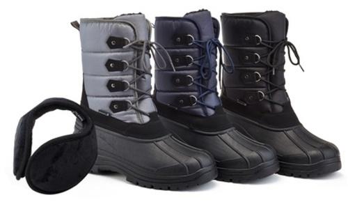 ... Snow Tec Mens Freddy Waterproof Snow Boots - Black - Size  13 ... ca47ef3e2