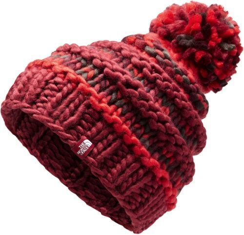 b87e17bd14e6c The North Face Women s Nanny Knit Beanie Hats - Rumba Red Juicy Red Multi -  BLINQ