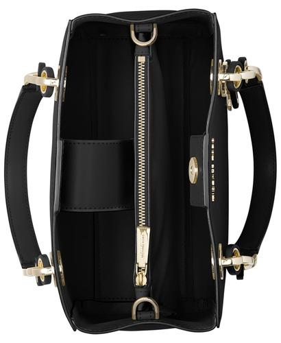 022cd43e018d4c ... Michael Kors Women's Cynthia Dressy Satchel - Black - Size: Medium ...
