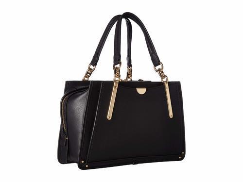 Coach Women s Dreamer Leather Satchel Bag - Black - BLINQ 4cc2b1fcbbefa