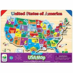 Deals on The Learning Journey Lift & Learn USA Map 123 Puzzle Set