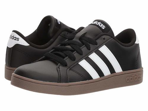 Adidas Kids  Baseline K Sneakers - Black White - Size  3 - Check ... 0f5f91345