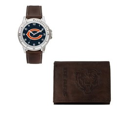 Rico NFL Chicago Bears Men's Watch and Wallet Set - Brown