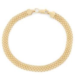 "Tiara 14K Yellow Gold 7-1/2"""""""" Bismark Chain Bracelet"