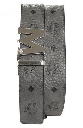 c896ff36020d Mcm Men s Claus Reversible Belt - Gray - BLINQ