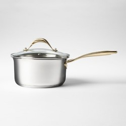 Cravings by Chrissy Teigen 2.7qt Stainless Steel Covered Saucepan