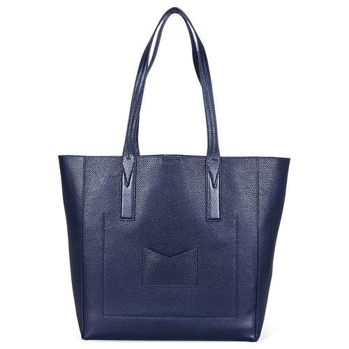 e9b6562764c6 Michael Kors Women's Junie Leather Tote - Admiral - Size: Large ...