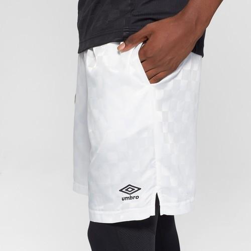 9f8ffdebf4 Umbro Men's Soccer Checkerboard Shorts - White - Size:L - Check Back ...