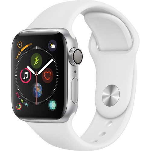 Apple 40mm Series 4 GPS Smart Watch with Aluminum Case - Silver/White