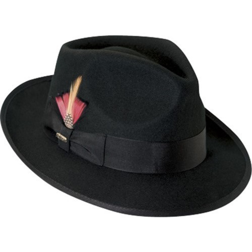 8bec2b0447470 Scala Classico Men s Wool Felt Snap Brim Fedoras - Black - Size  Large -  Check Back Soon - BLINQ